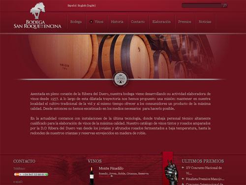 Web Bodega San Roque de la Encina